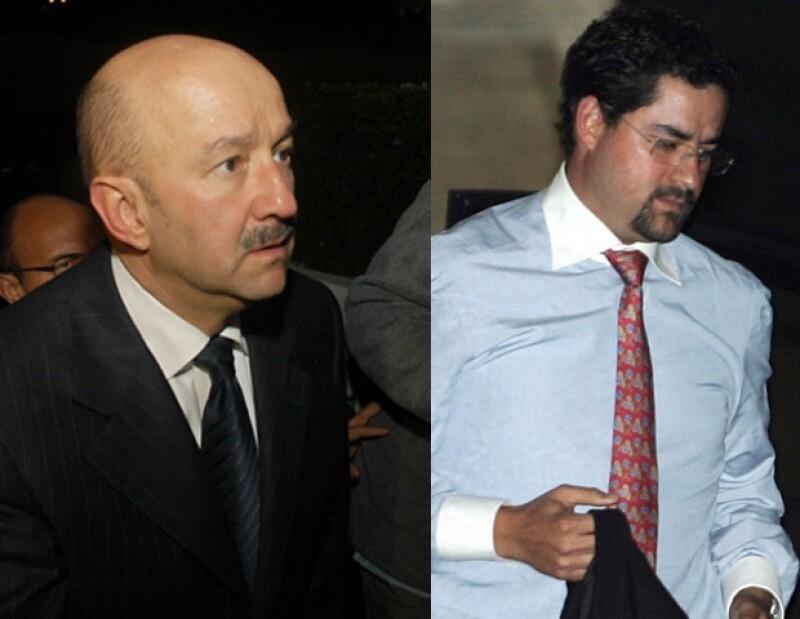 Carlos Salinas de Gortari y su hijo Juan Cristobal fueron los primeros en llegar, dada la relación que existe entre Emiliano Salinas y Ludwika.