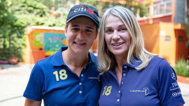 Lorena Ochoa y Nadia Comăneci