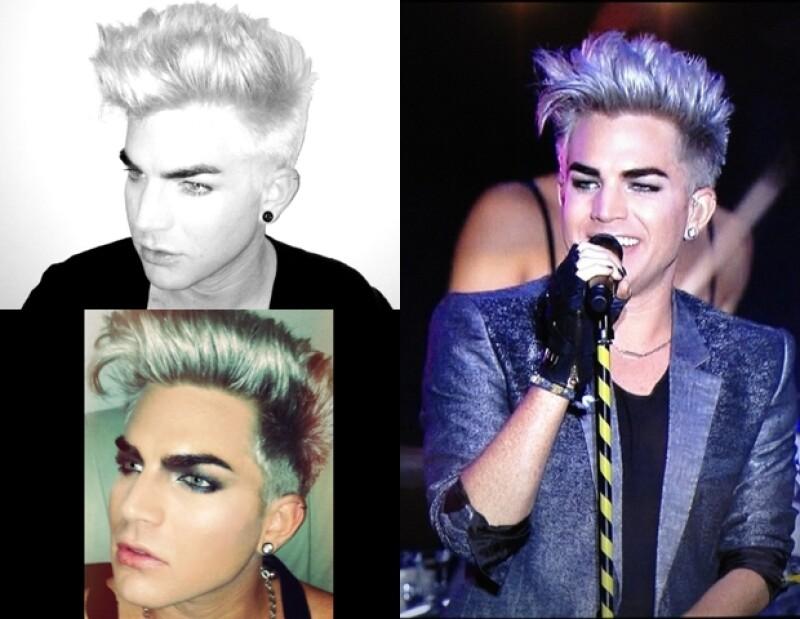Adam Lambert también se volvió rubio