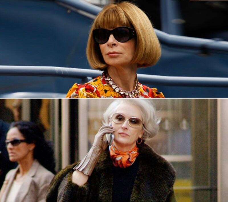 Mientras que el accesorio favorito de Wintour son los lentes de sol, el de Pristley son las mascadas.