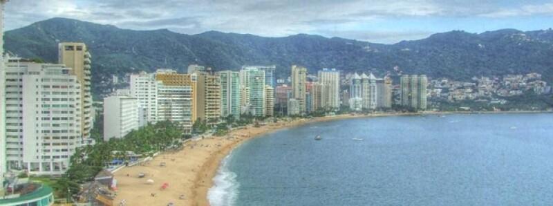 El puerto de Acapulco.