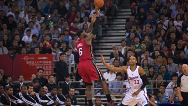 Miami Heat y Los Angeles Clippers dieron juegos de exhibición en Pekín y Shangai. (Foto: AP)