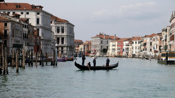 The Grand Canal is seen after the Italian government imposed a virtual lockdown on the north of Italy including Venice to try to contain a coronavirus outbreak, in Venice