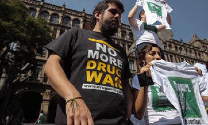 Diferentes grupos se han manifestado por detener la guerra contra las drogas en México (Foto: EFE/Archivo )