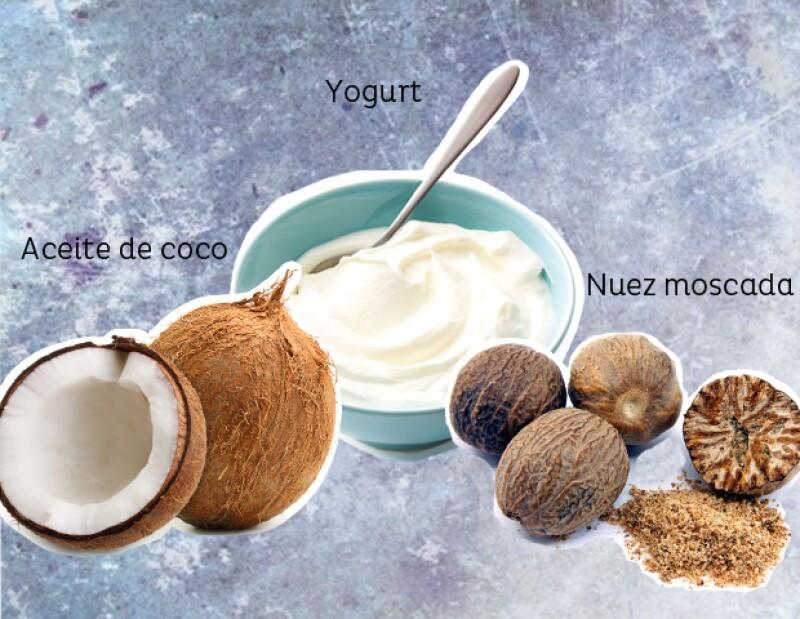 Mascarilla de aceite de coco para exfoliar la piel.