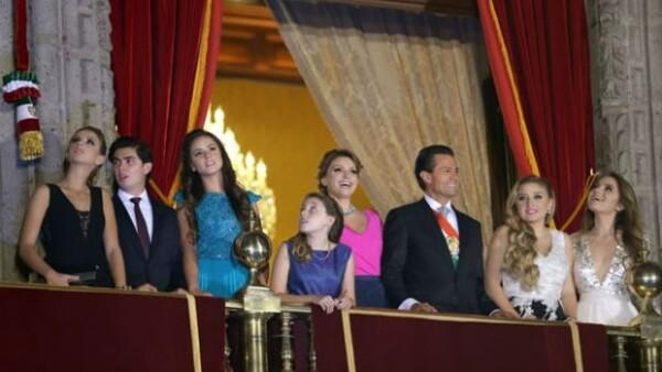 Sofía salió al balcón de Palacio Nacional junto a su familia luego de que Enrique Peña Nieto diera el tradicional grito de Independencia.