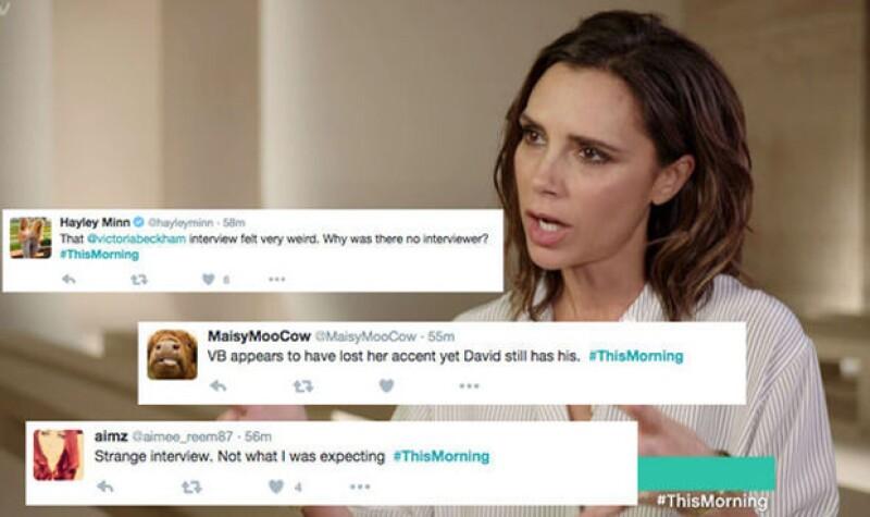 Estos fueron algunos de los tuits que expresaron sus impresiones tanto de la entrevista como de lo que dijo Victoria.