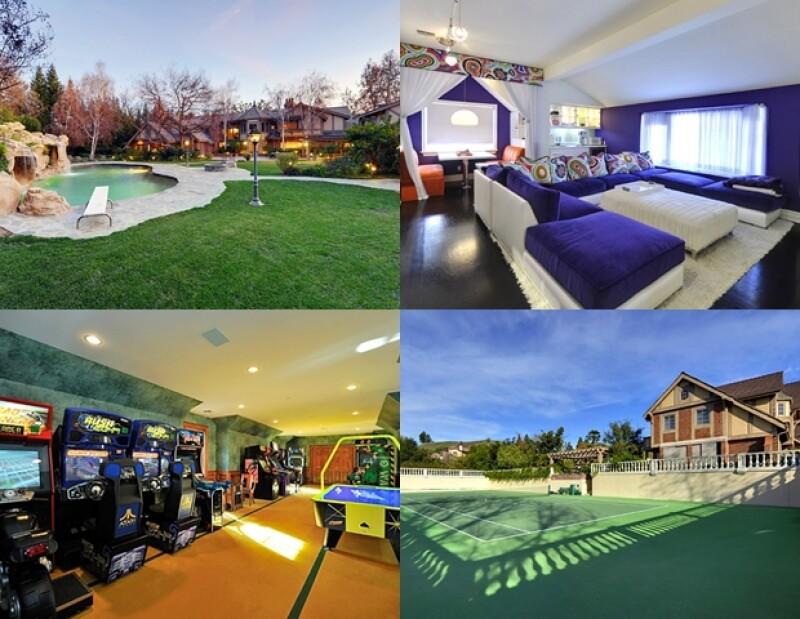 Con más de 10 habitaciones, alberca, cancha de tenis y enormes jardines, el hogar de la cantante es realmente digno de una Princesa del Pop.