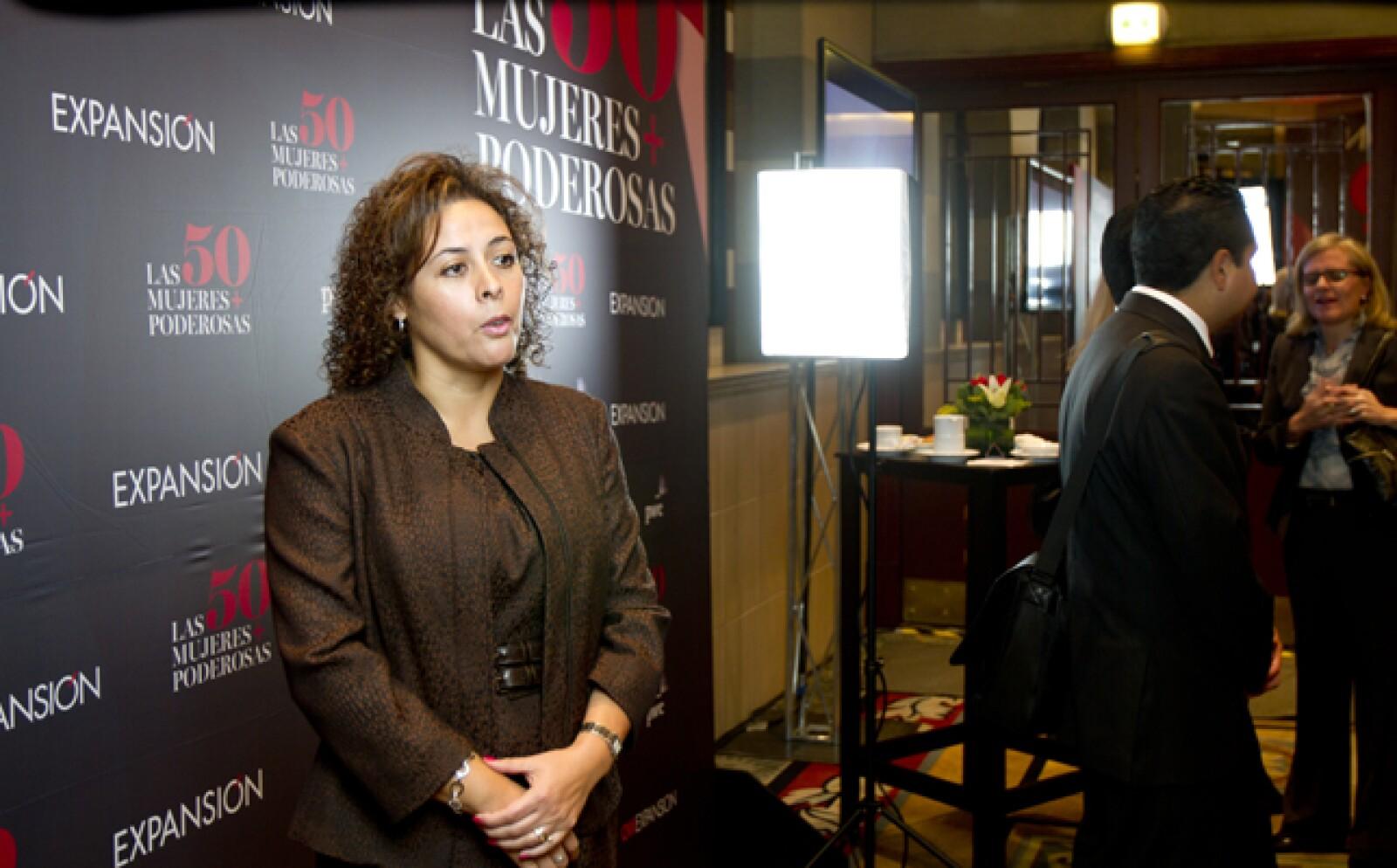 Algunas de las altas ejecutivas fueron entrevistadas a cuadro por CNNExpansión. En la imagen, María del Carmen Valencia, vicepresidenta senior y CIO de Walmart Latinoamérica. Ocupa el lugar 45 del ranking de la revista Expansión.