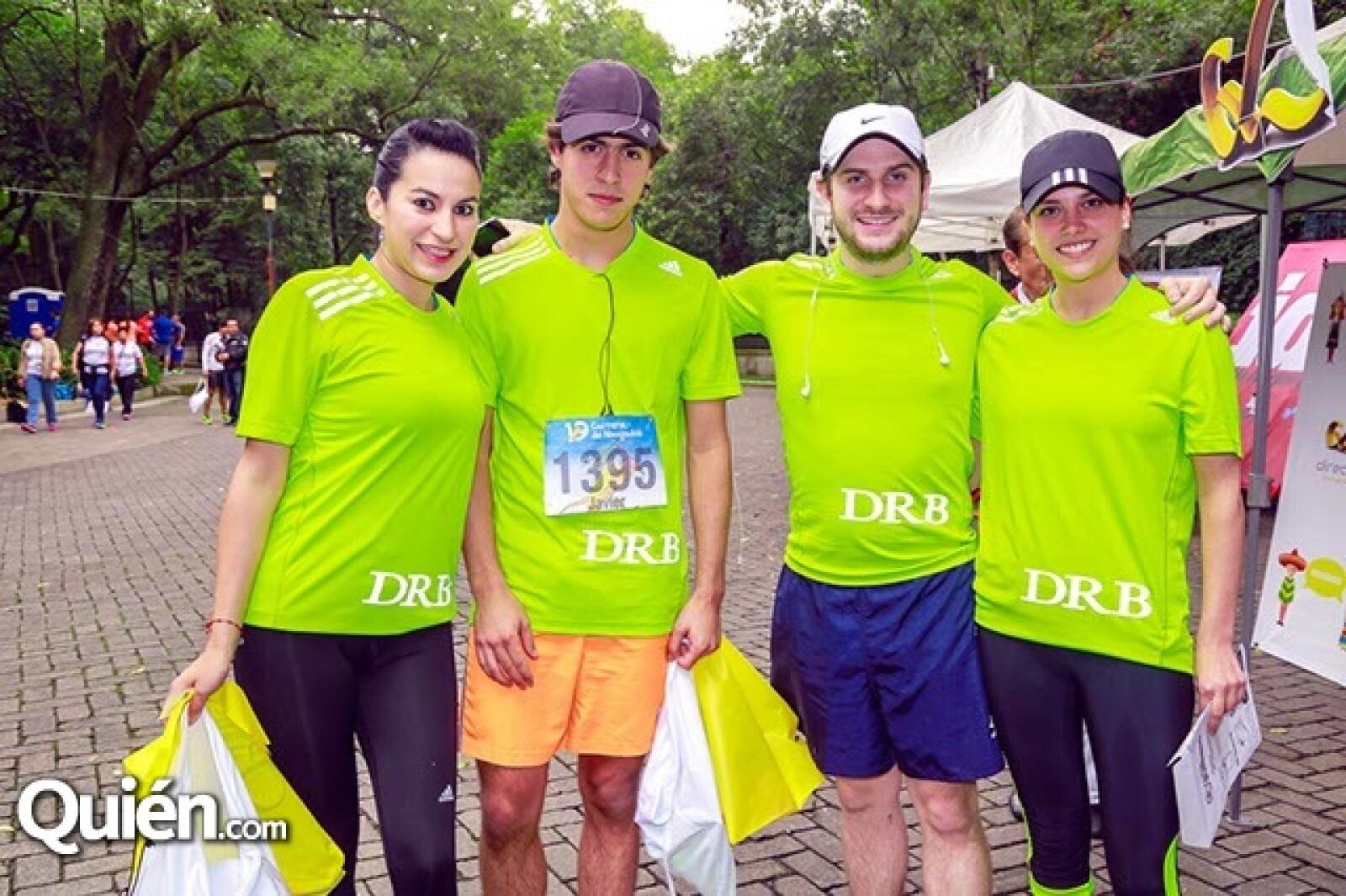 Azucena Ahumada,Javier Orozco,Diego Cortina y Fernanda Gallón