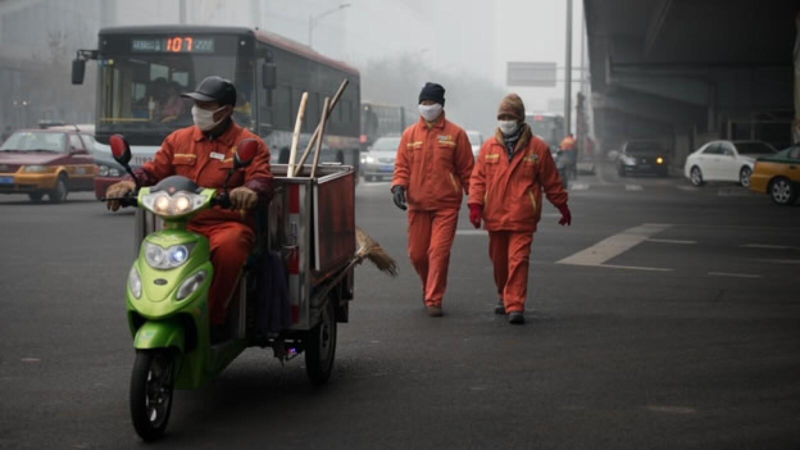 Chinos contra la contaminacion