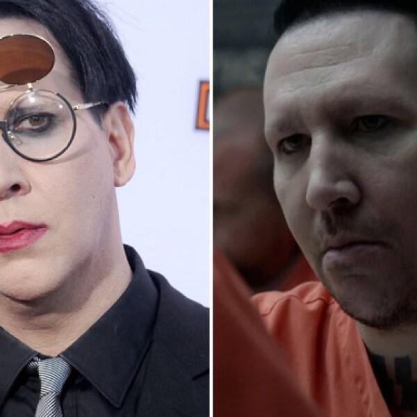 Y no podía faltar el excéntrico Marilyn Manson, quien dejó ver su lado natural al interpretar a Ron Tully, jefe de los Arios en la última temporada de Sons Of Anarchy.