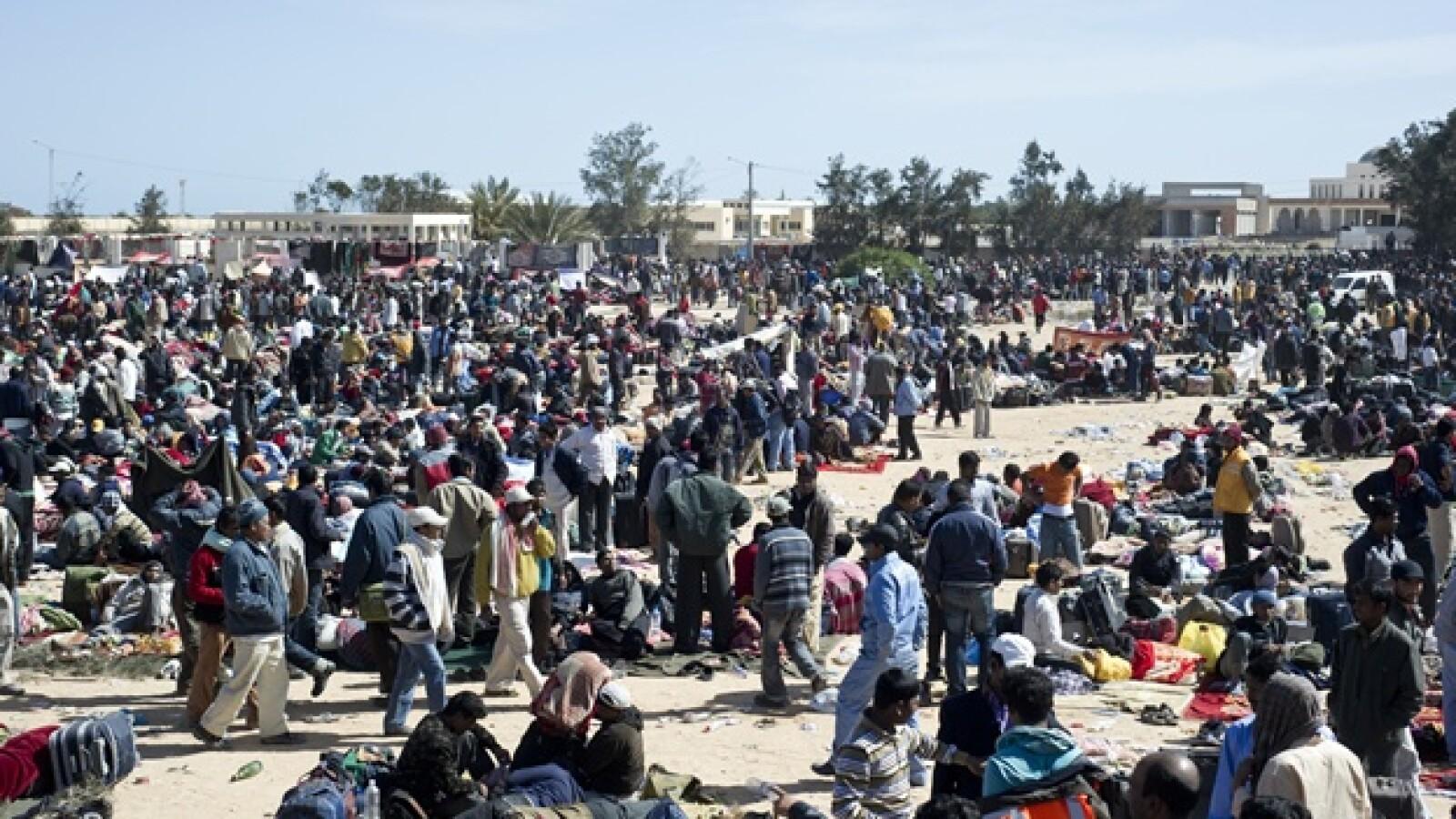 Túnez - refugiados libios