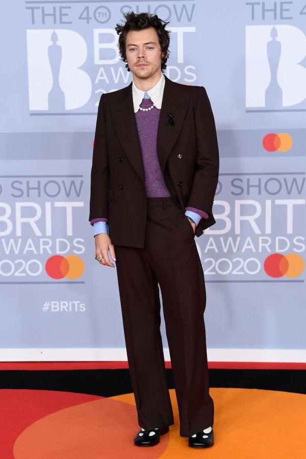 40th Brit Awards, Arrivals, Fashion Highlights, The O2 Arena, London, UK - 18 Feb 2020