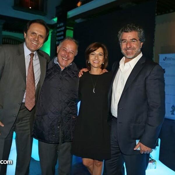 Carlos Pruneda, José Luis Franco, Marissa Méndez y José Luis Salamanca