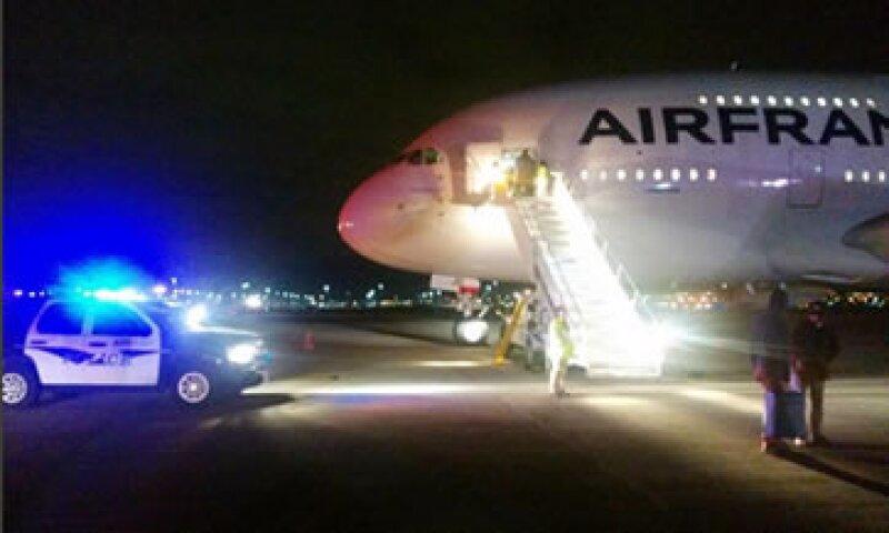 El vuelo 65 de Air France que aterrizó de emergencia en Salt Lake City tras una amenaza de bomba (Foto: AFP )