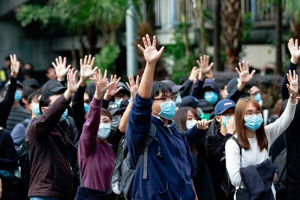 Protests in Hong Kong, China - 19 Jan 2020
