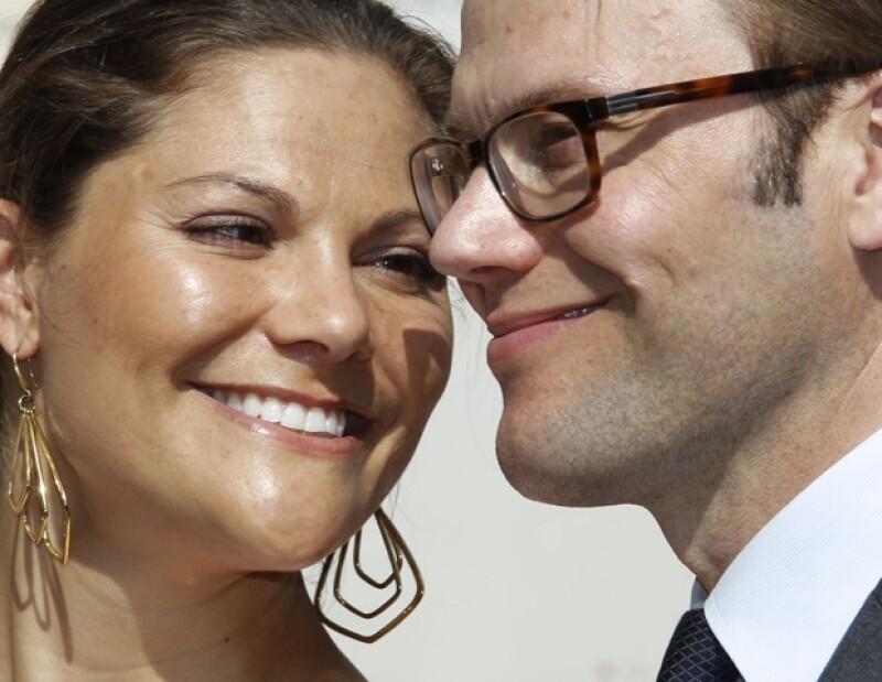 Victoria y Daniel de Suecia.