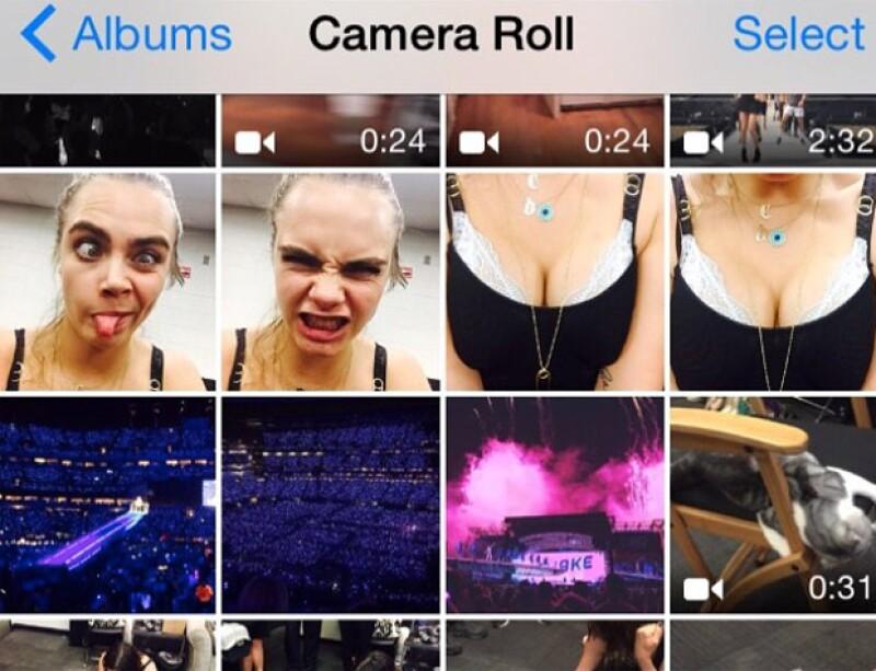 Taylor felicitó a Cara y mostró las travesuras que su BFF le hace cuando le roba su celular.