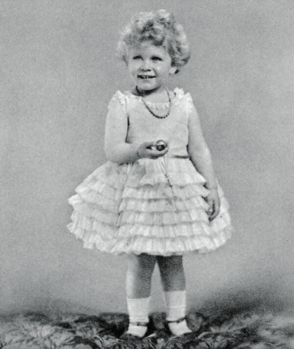 Princess Elizabeth aged two in 1928, (1937).