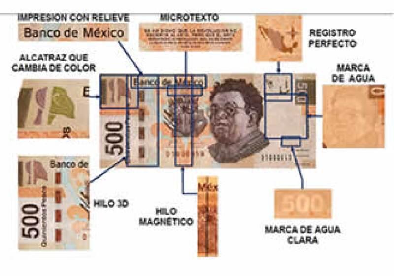La falsificación de billetes en México ascendió a 87 piezas por cada millón en circulación, según Banxico. (Foto: Notimex)