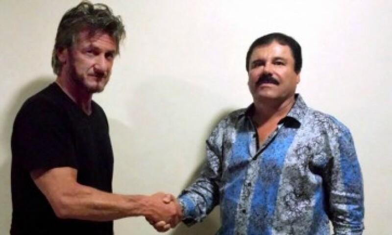 Sean Penn y el entonces prófugo el 2 de octubre. (Foto: Rollingstone.com)