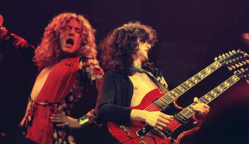 Jimmy Page y Robert Plant