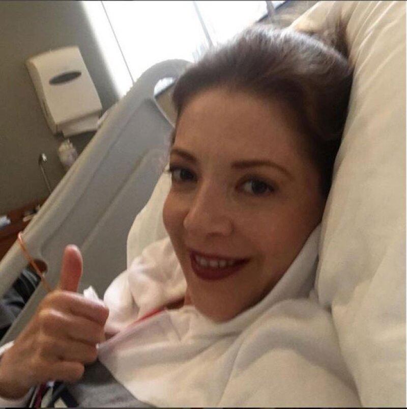 La intérprete dio a conocer hace unos días que había sido operada para erradicar los tumores cancerígenos.
