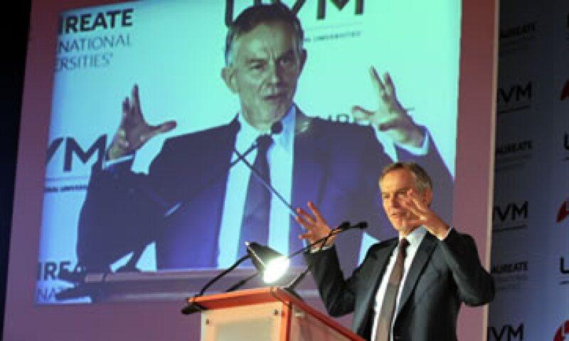 Tony Blair destacó el crecimiento económico de México. (Foto: Notimex)