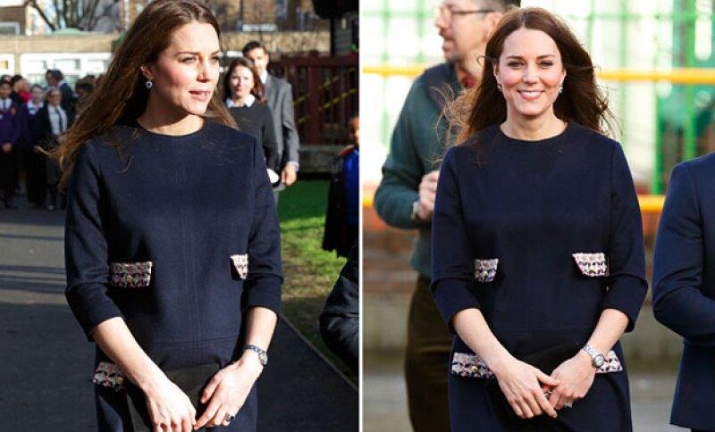 Desde que se dio a conocer su embarazo, la esposa del príncipe William ha mostrado varios outfits que no solo hacen lucir su belleza, sino también su embarazo.
