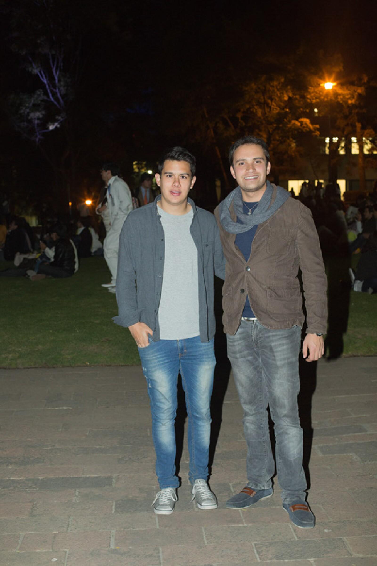 Rodrigo Sotres y Hamid Estefan