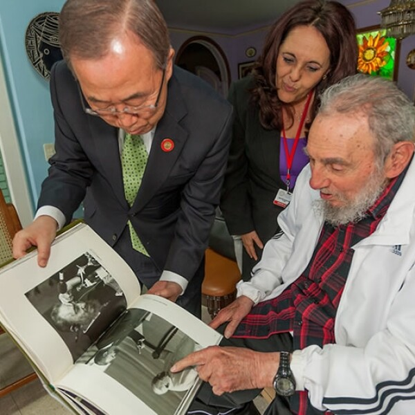 Ban Ki-moon Fidel Castro