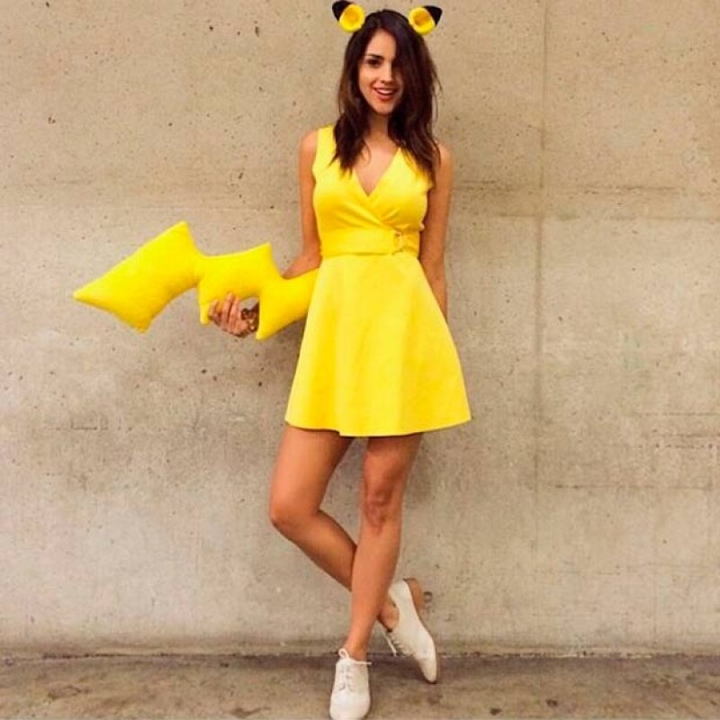"""La actriz mexicana lució un disfraz del famoso personaje de """"Pokemon"""" durante la reconocida convención de cómics, animación y ciencia ficción que se lleva a cabo en San Diego."""