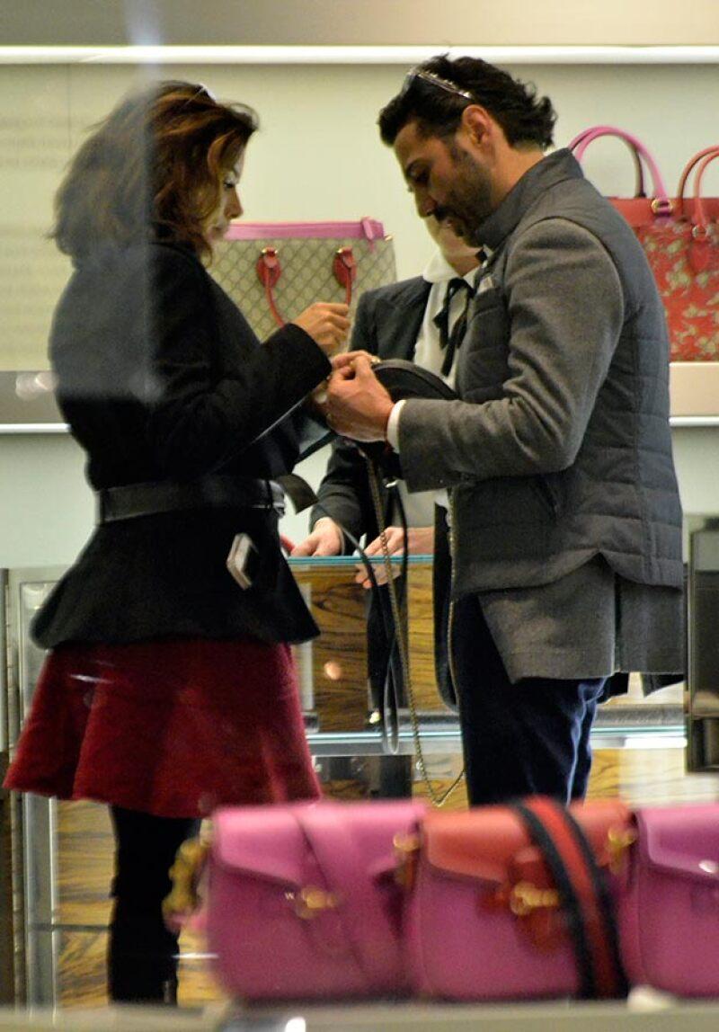 La pareja hizo compras en Polanco.
