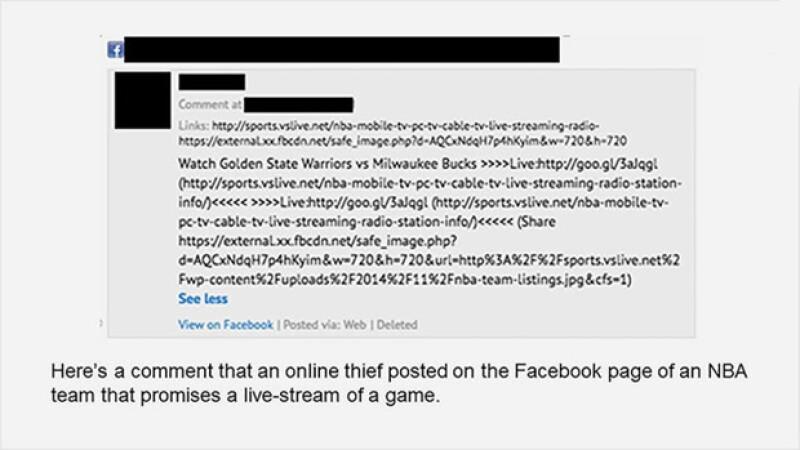Los estafadores compartes links que sólo robarán tu información.