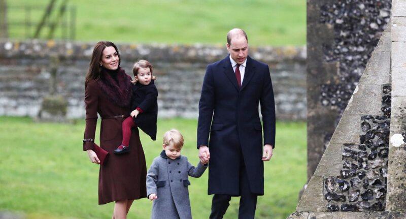 Kate Middleton, el príncipe William, George y la princesa Charlotte