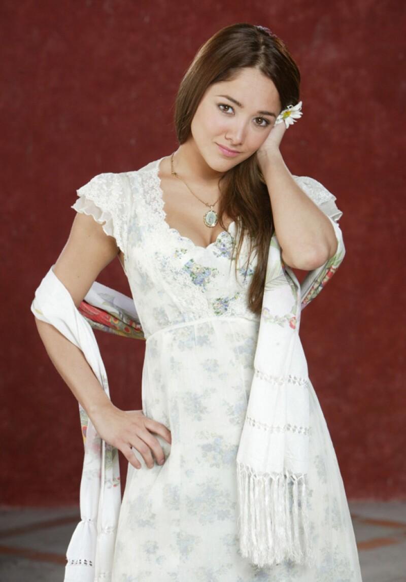 Sherlyn en la telenovela Fuego en la sangre, 2008.