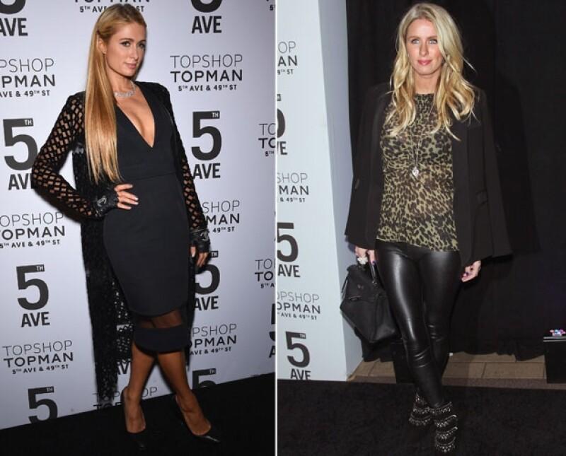 Paris y Nicky Hilton lucieron sus versiones más fashionistas para la ocasión.