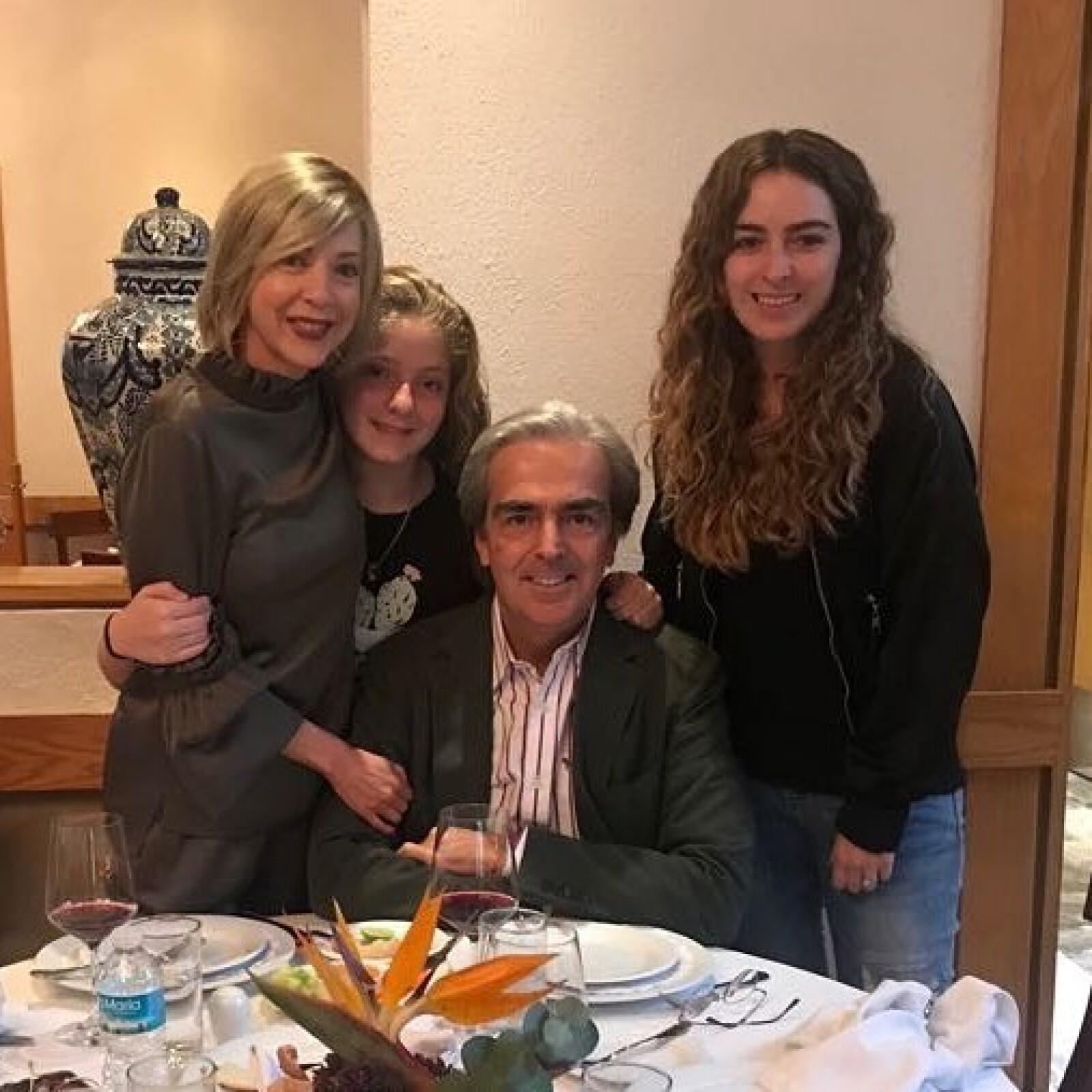 Edith González, Constanza Creeel, Lorenzo y Lorenza Lazo
