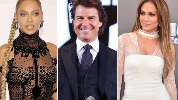 Beyoncé, Tom Cruise, Jennifer Lopez
