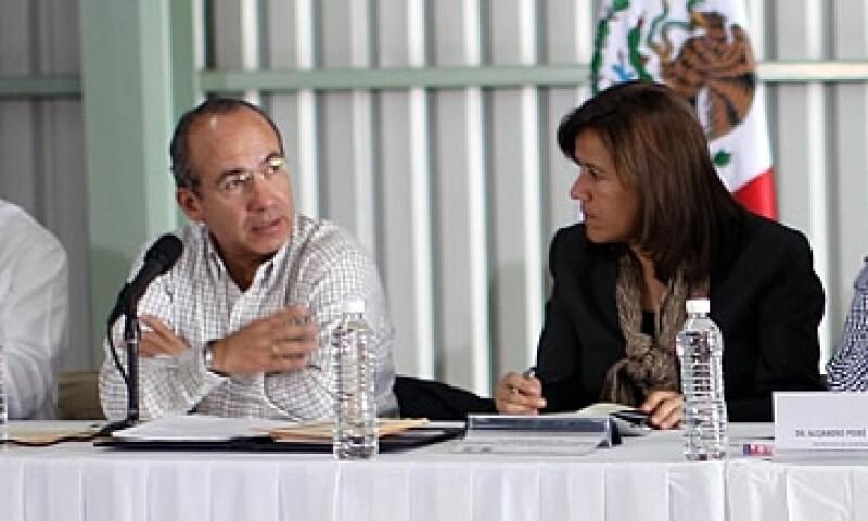 Felipe Calderón, presidente de México  aseguró que la sequía afecta a afecta a más de 1,200 municipios del país. (Foto: Cortesía Presidencia de la República)