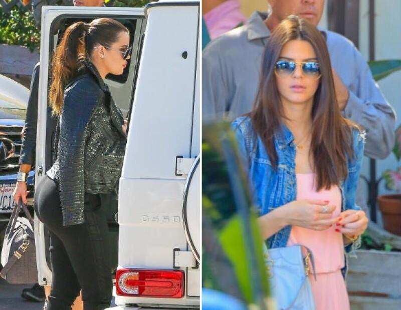 Khloé y Kendall también estuvieron en el festejo familiar para Bruce Jenner.