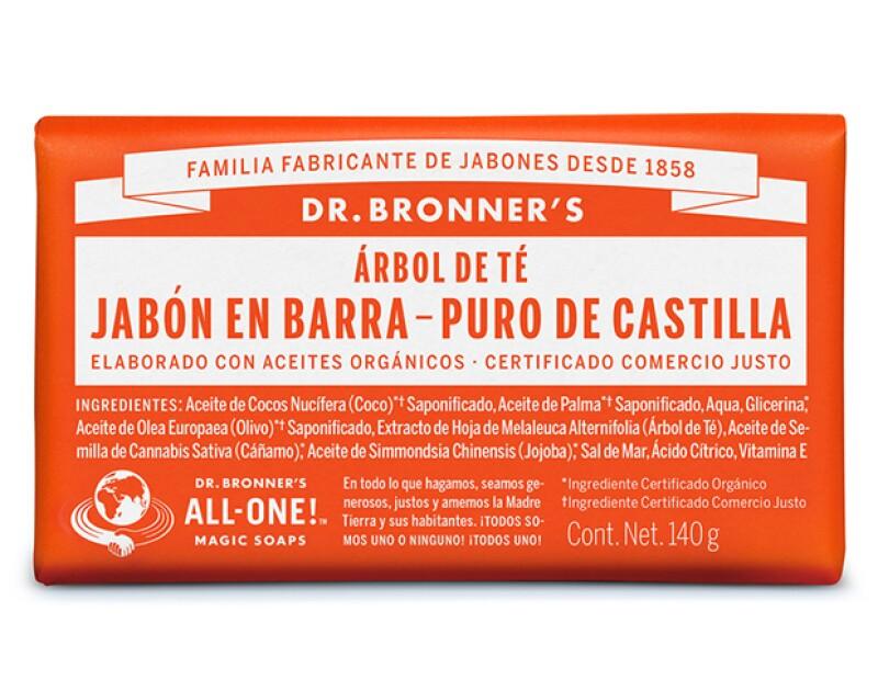 Cada jabón presenta el lema ALL ONE (TODOS UNO) y la filosofía de Emanuel Bronner en el empaque.