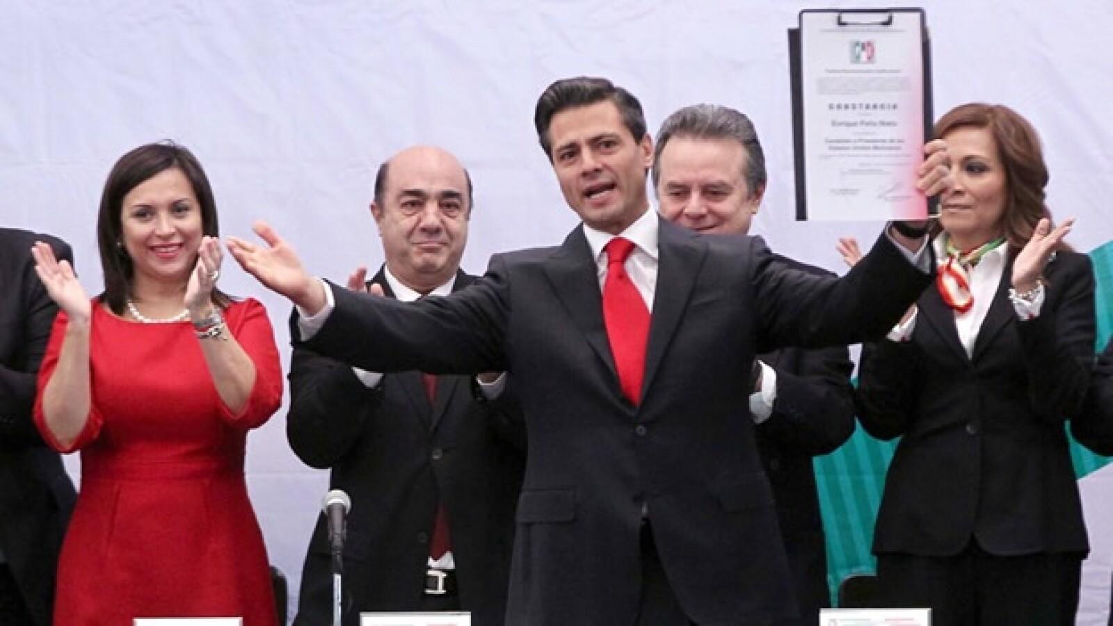 El PRI le da a Peña Nieto la constancia como candidato unico a la presidencia