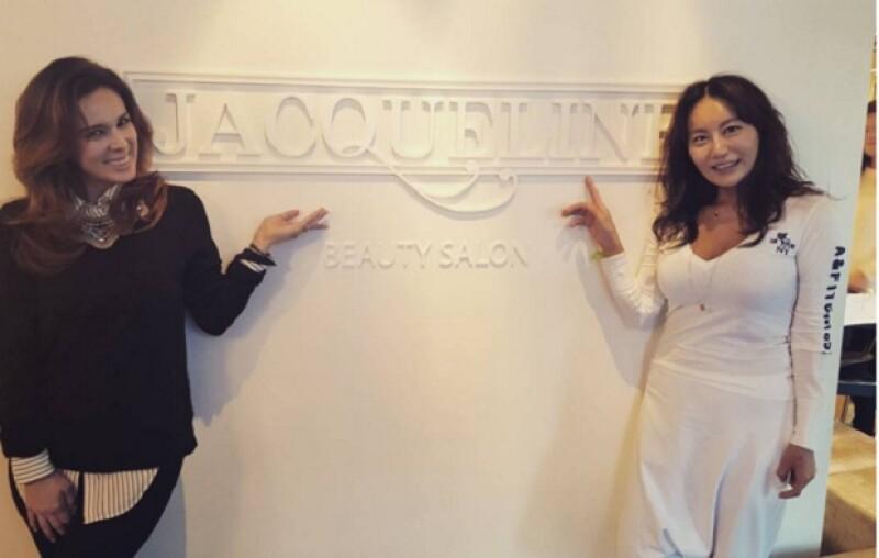 """Jacky conoció a su """"doble"""" en una famosa estética en Seúl."""