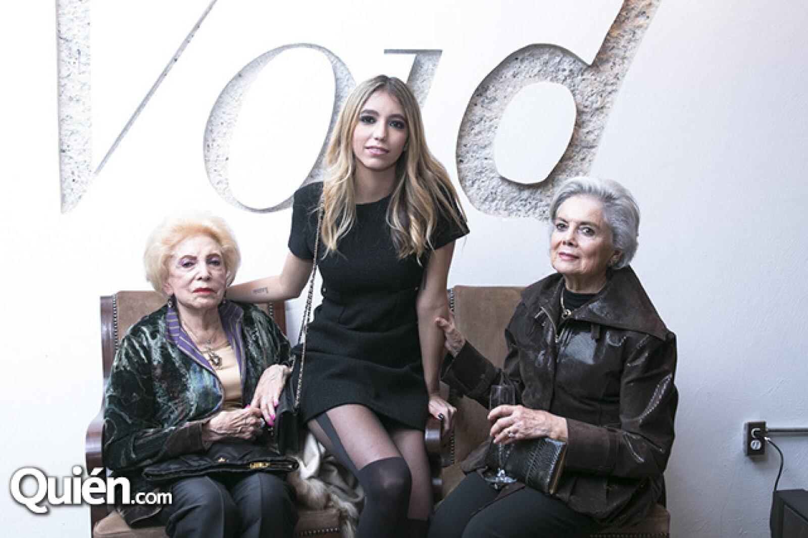 Olympia Hernandez Pons, Olympia de la Macorra y Leticia Miranda