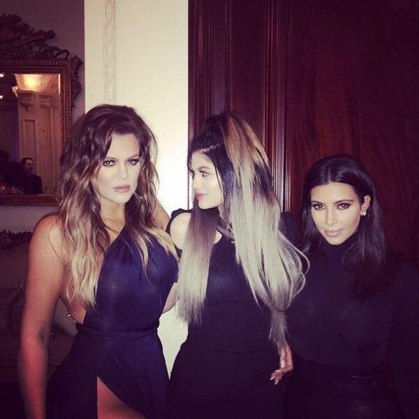 Khloé Kardashian, Kylie Jenner y Kim Kardashian.