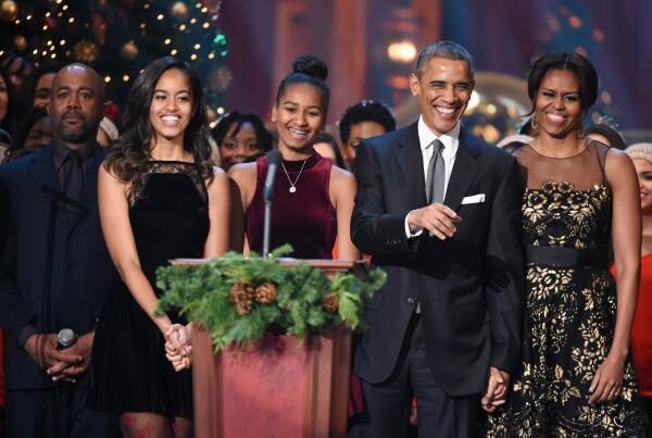 Familia Obama en Navidad
