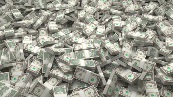 Money Piles Bundles of the latest $1 US Dollars Bills - Full Set of all bills
