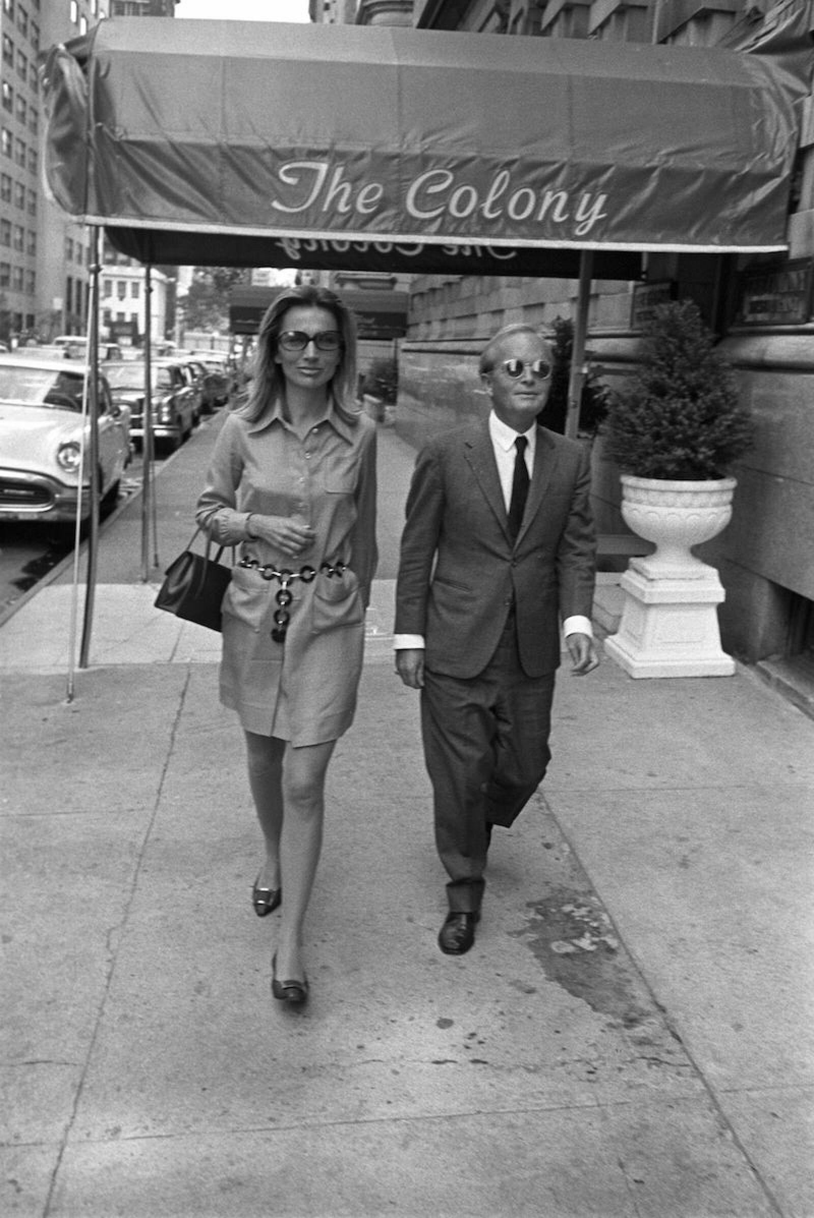 Lee Radziwill and Truman Capote, New York